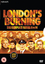 LONDONS-BURNING-THE-COMPLETE-SERIES-8-14-New-Sealed-28-Disc-Set-Fast-Post