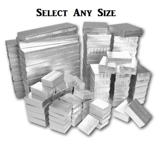 LOT OF 100 SILVER COTTON FILLED JEWELRY GIFT BOXES~ALL SIZE~ASSORTED~GRAFT BOX in Jewelry & Watches, Jewelry Boxes & Organizers, Jewelry Boxes | eBay