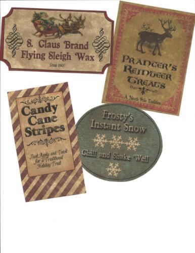 LOT OF~12 Vintage look LABELS~Grungy labels ~Christmas Santa's Labels. in Antiques, Primitives | eBay