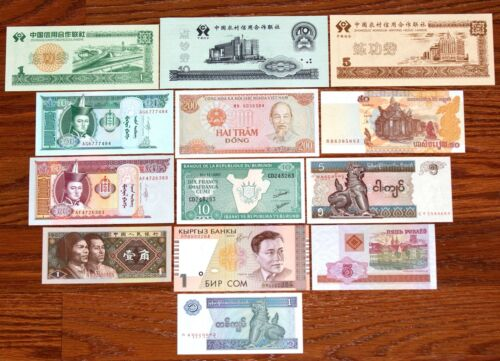 LOT OF 13 DIFFERENT FOREIGN PAPER MONEY BANKNOTES WORLD CURRENCY in Coins & Paper Money, Paper Money: World, Collections, Lots | eBay