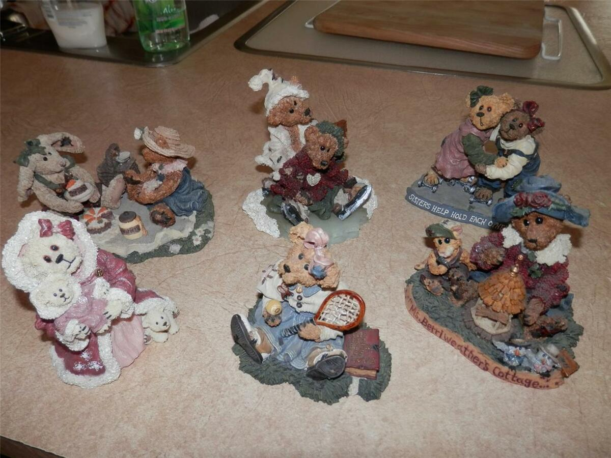 Lot of 6 Boyd's Bears Friends Resin Figurines All Retired Check Them Out