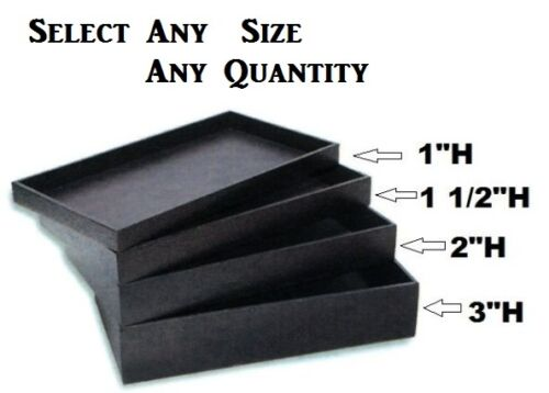 "LOT OF STACKABLE 1""H~1 1/2""H~2""H DISPLAY TRAYS PLASTIC JEWELRY SHOWCASE TRAYS in Jewelry & Watches, Jewelry Boxes & Organizers, Jewelry Holders & Organizers 