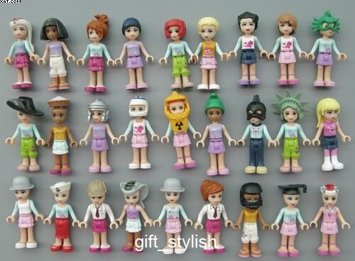 Lot Of 24 Lego Friends Mia Emma Action Figure 2 Loose Style By