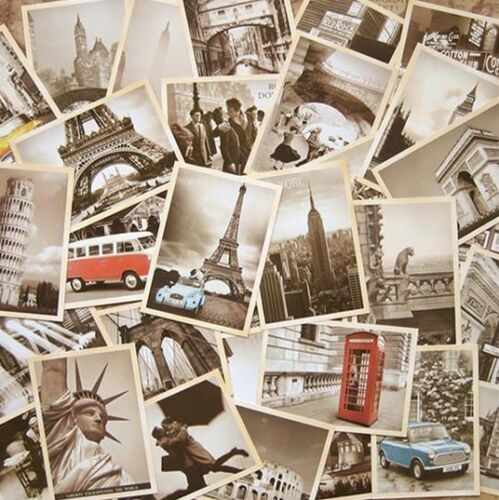 LOT of 32 Vintage RetroOld Travel Postcards Cards Posters art deco Free shipping in Collectibles, Postcards, Other | eBay