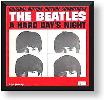 LP Record Album Cover Display Frame   Black