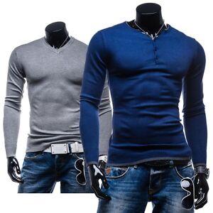 LT-005-007-009-Herrenpullover-Shirt-Strick-Jacke-Men-Slim-Fit-Sweater-5E5-Pulli