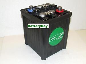 lucas 6 v classic vintage car battery type 421 mgb. Black Bedroom Furniture Sets. Home Design Ideas