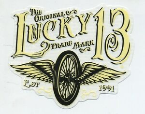 Lucky 13 Stickers Decals