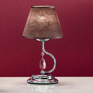 Lume lampada da tavolo design moderno cromo illuminazione for Lampada salotto