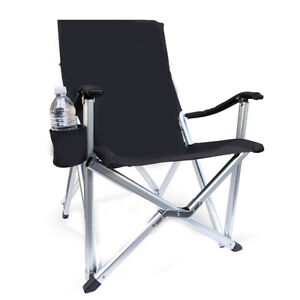 Luxury Lightweight All Aluminum Folding Lawn Chair Pearl