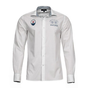 La-Martina-Herren-Hemd-in-weiss-Maserati-Kollektion-Fruehjahr-2013-in-Groesse-XL