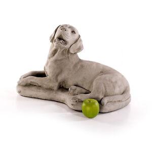 Labrador steinfiguren hunde tierfiguren hund gartenfiguren for Gartenfiguren stein