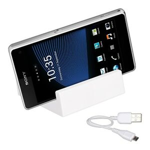 Lade-Station-fuer-Sony-Xperia-Z1-Compact-Magnet-Dockingstation-Dock-Weiss-Tisch