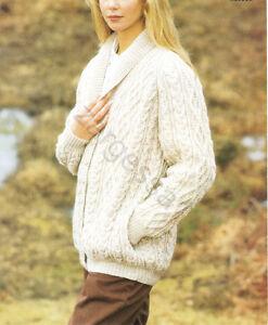 Ladies Aran- Raglan Cardigan Knitting pattern--To Knit-fits 32-42