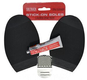 black soltrack stick on sole glue anti slip soles