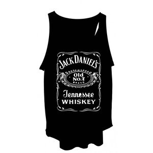 Ladies-Jack-Daniels-Vest-Free-Size-Tank-Top-T-Shirt-Singlet-NEW