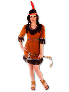 Ladies-Red-Indian-Costume-Native-American-Wild-West-Western-Fancy-Dress-Outfit