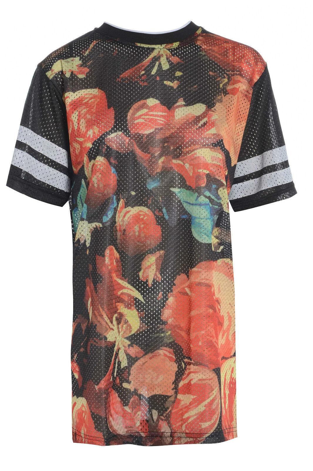 Ladies Women Oversized Mesh Baggy T Shirt Summer Top