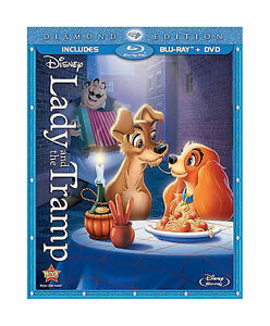 Lady and the Tramp (Blu-ray/DVD, 2012, 2...