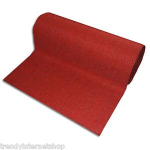 l ufer teppich br cke sauberlauffmatte matte sisal rot 90 cm breit rutschfest ebay. Black Bedroom Furniture Sets. Home Design Ideas