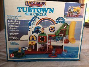 Lakeside Tubtown Tub Town Sea Circus 1985 Toy Bath Vintage