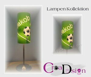 lampe geschenk geburtstag tischlampe kinderzimmer name individuell fu ball ebay. Black Bedroom Furniture Sets. Home Design Ideas