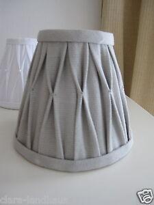 lampenschirm 14x7x12 grau klemmschirm aufsteckschirm kronleuchter ebay. Black Bedroom Furniture Sets. Home Design Ideas