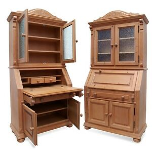 landhaus bauernschrank schrank sekret r k chenschrank f shabby chic k che ebay. Black Bedroom Furniture Sets. Home Design Ideas