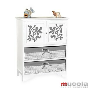 landhaus kommode schrank sideboard badschrank regal wei k rben holzschnitz grau ebay. Black Bedroom Furniture Sets. Home Design Ideas