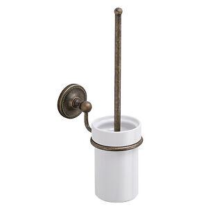 landhaus wand wc b rstengarnitur wc b rste alt antik messing keramik neu ebay. Black Bedroom Furniture Sets. Home Design Ideas
