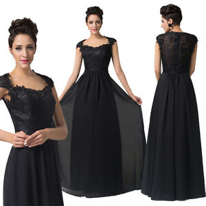 Elegant-Womens-Maxi-Black-Homecoming-Pageant-Cocktail-Evening-Party ...