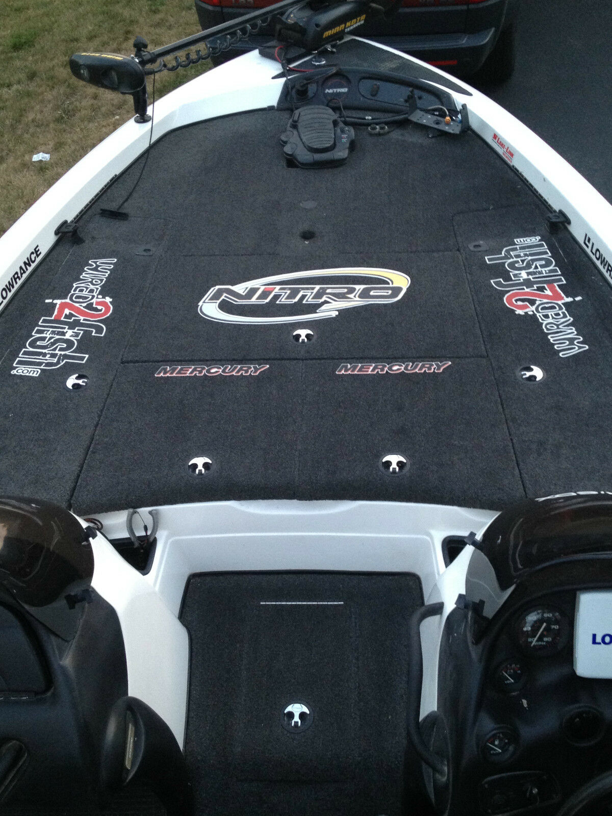 Large  Carpet Graphic Red Pro Craft Boat Decal Stickers - Boat decals