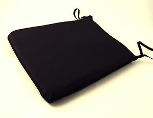Large black tie on chair kitchen dining room patio seat pad cushions