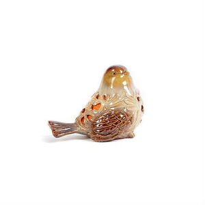 Large ceramic bird night light table top night light bird with cutouts ebay - Birdhouse nightlight ...