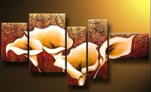 Large Modern Abstract Art Oil Painting Wall Deco canvas Flower (no Framed)+gift in Art, Wholesale Lots, Paintings | eBay