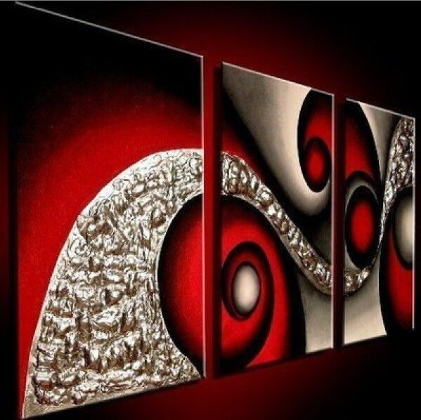 Wall Art Painting With Frame : Large modern abstract art oil painting wall deco canvas