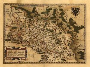 Large-Silesia-Poland-Czech-Germany-Vintage-Antique-Map
