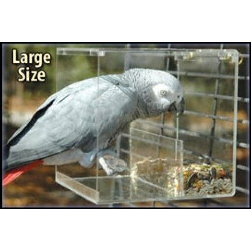 Large Tidy Seed No-Mess Bird Feeder parrot toy toys breeder african grey amazon in Pet Supplies, Bird Supplies, Toys | eBay