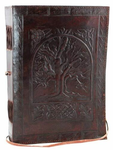 Large Tree of Life Leather Blank Book in Books, Accessories, Blank Diaries & Journals | eBay