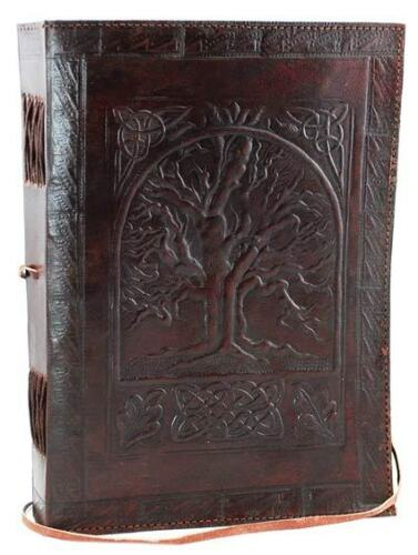 Large Tree of Life Leather Blank Book or Journal; Chemical Free Recycled Paper in Books, Accessories, Blank Diaries & Journals | eBay