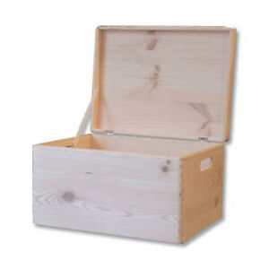 ... Wooden Chest Box Trunk Storage Unfinished Toy Box 46x 32x 24cm | eBay
