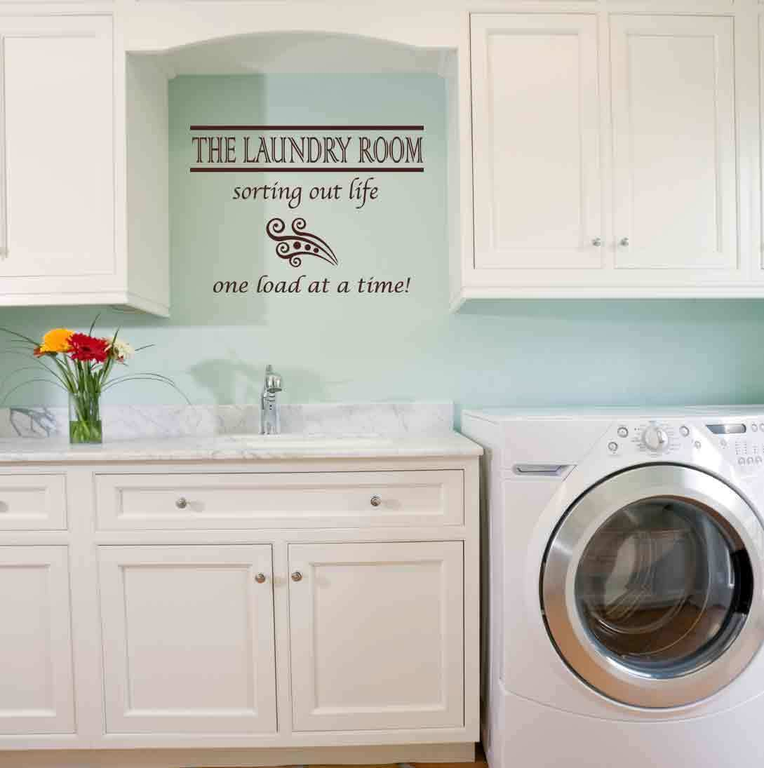 Laundry Room Quote Wall Decal Sticker Highest Quality Big or Small