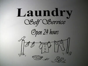 "Laundry Room ""Quote with clothesline"" Vinyl Decal in Home & Garden, Home Decor, Decals, Stickers & Vinyl Art 