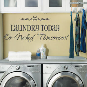 laundry washing room art wall quote stickers wall decals