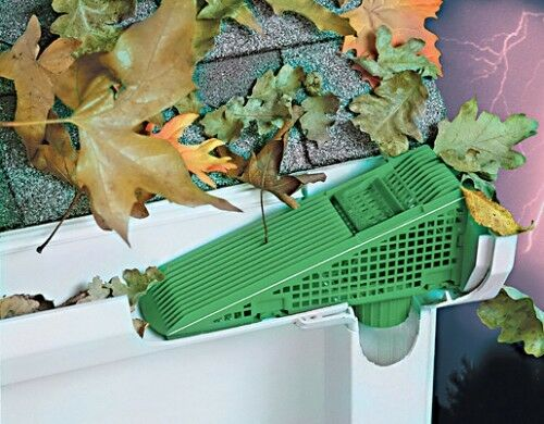 the gutter wedge downspout gutter screen 4 pack blocks leaves twigs more - Decorative Downspouts