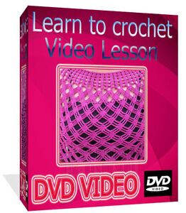 How To Learn Crochet Step By Step : Details about Learn How To Crochet Step By Step DVD Video Guide On DVD ...