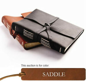 Leather Bound Travel Journal - Saddle - Rustico Leather in Books, Accessories, Blank Diaries & Journals | eBay