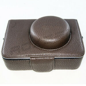 Leather-Camera-Case-Bag-for-Olympus-PEN-EP1-EP2-E-P1-E-P2-17mm-lens-brown