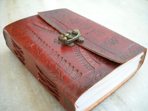 Leather Journal Leather Diary 240 handmade pages Perfect Gift Original Indian in Books, Accessories, Blank Diaries & Journals | eBay