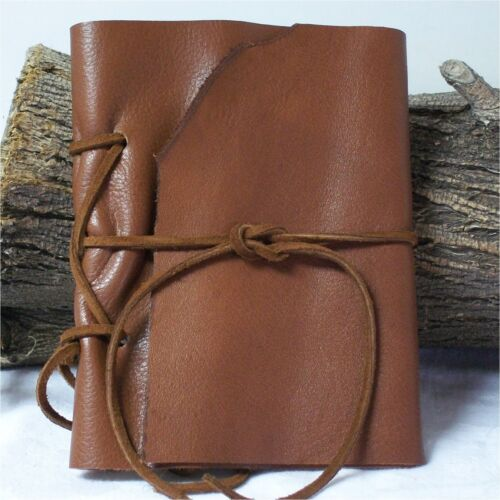Leather Pocket Journal Handmade Art Diary Travel Planner CWR 6X4.5 Med Brown in Books, Accessories, Blank Diaries & Journals | eBay